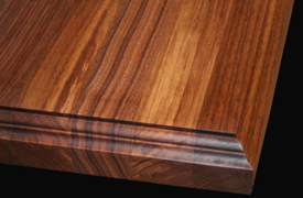 Wood Countertop Edge Details : Edge Grain Walnut with Standard Double Roman Ogee Edge Detail and ...