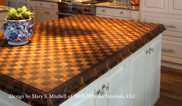 End Grain Hickory And Walnut With Medium Roman Ogee Edge